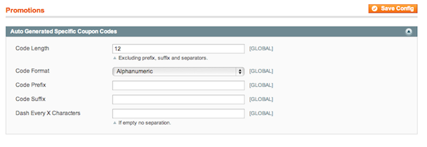 """توليد رموز قسائم الخصم """"الكبونات"""" بماجنتو 1.7"""